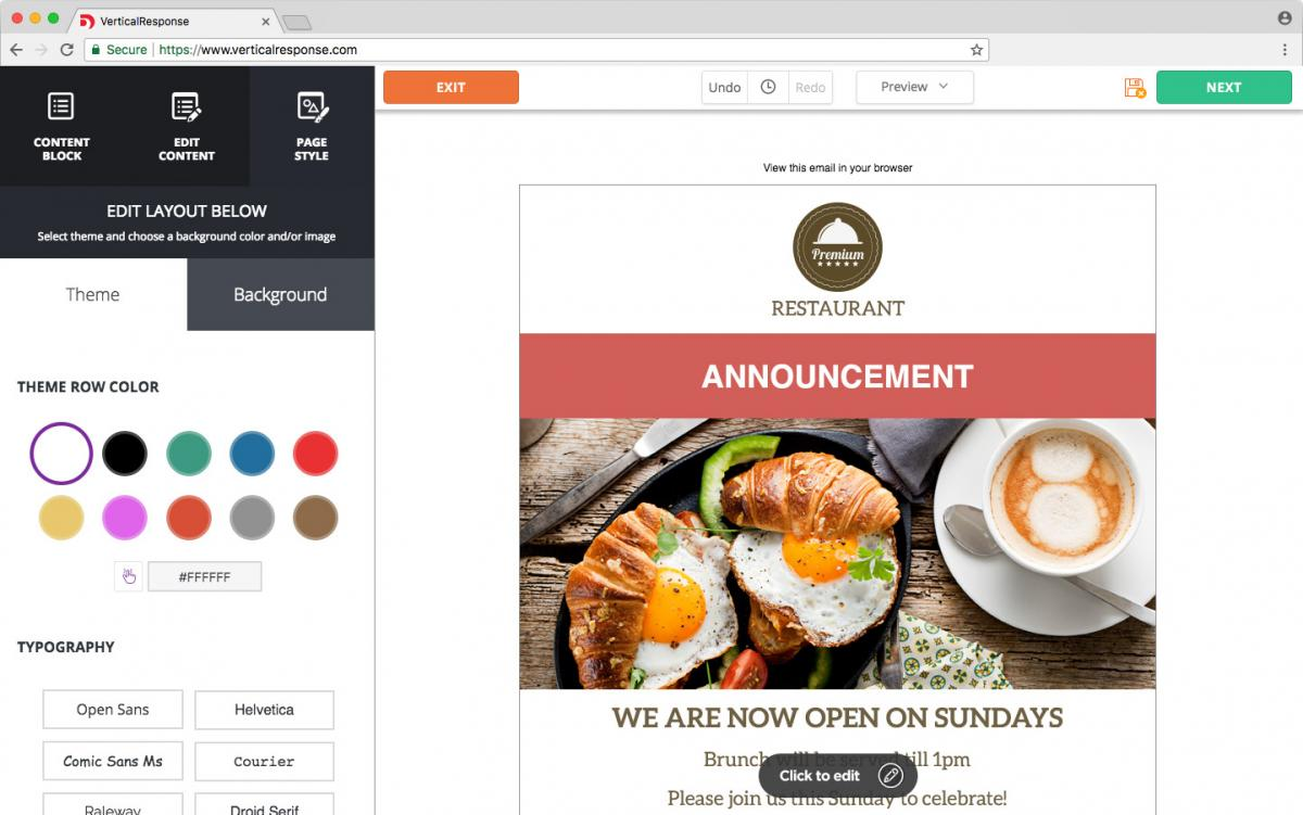 Create a beautiful email in minutes